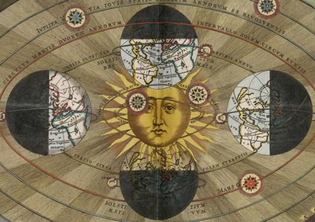 Nicolás Copérnico publica su texto Commentariolus en el cual posiciona en nuestra galaxia al Sol en el centro y la Tierra girando alrededor de él.