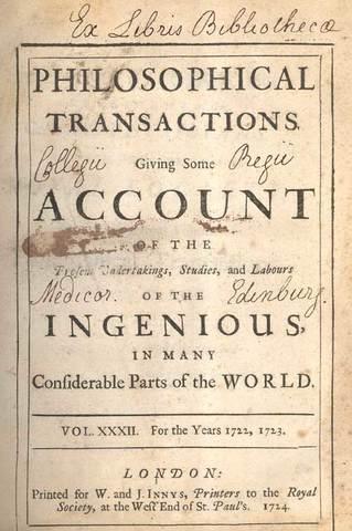Philosophical Transactions of the Royal Society, primera revista científica revisada por pares publicada.