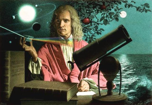 Isaac Newton: teoria corpuscular de la luz.