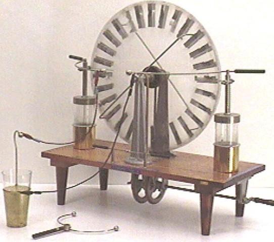 Ewald Jürgen Georg von Kleist inventa el primer condesador, la botella de Leyden.