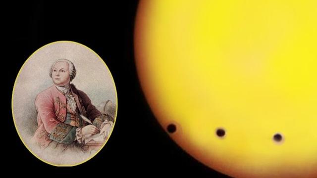 Mikhail Lomonosov descubre la atmósfera de Venus.