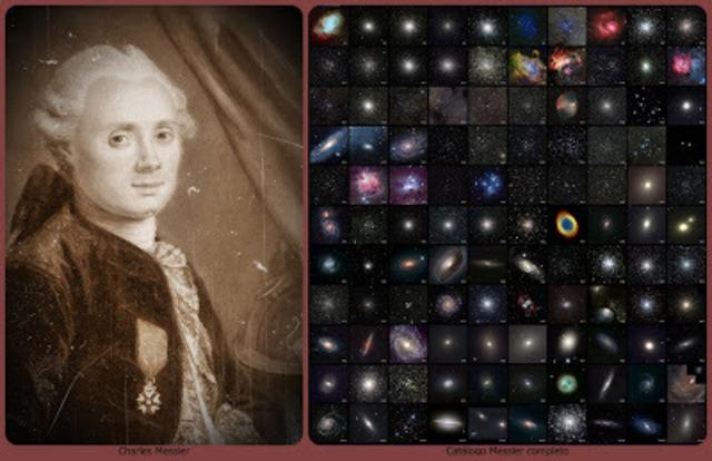 Charles Messier publica un catálogo de objetos astronómicos (Messier Objects) ahora conocido por incluir galaxias, cúmulos de estrellas, nebulosas.