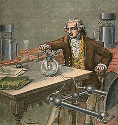 Antoine Lavoisier publica sus trabajos sobre la combustión, la naturaleza del oxígeno y la composición del aire.