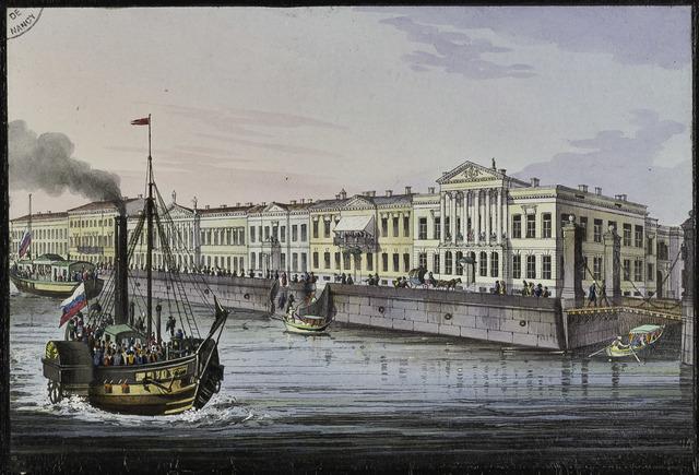 """Claude François Jouffroy d'Abbans construye el """"Pyroscaphe"""", primer barco de rueda lateral de paletas accionado por un motor de vapor."""