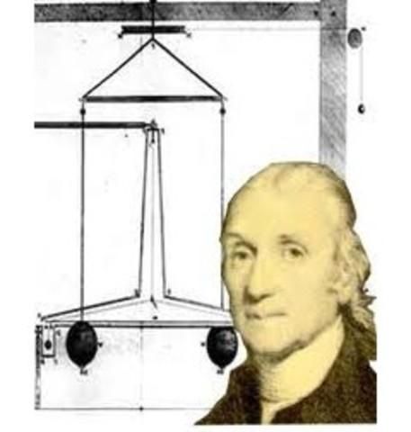 Henry Cavendish realiza su célebre experimento de la balanza de torsión y consigue medir el valor de la constante de gravitación universal.