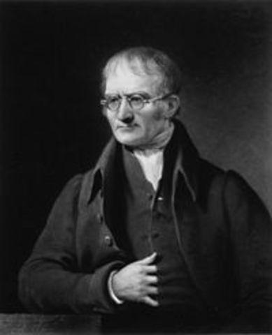 John Dalton Afirmó que todas las cosas estaban formadas por pequeñas partículas llamadas átomos y que estos se combinaban para crear moléculas.