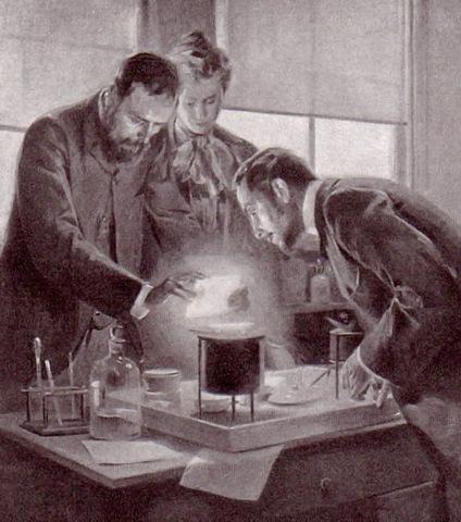 Marie Curie descubre el radio y el polonio.