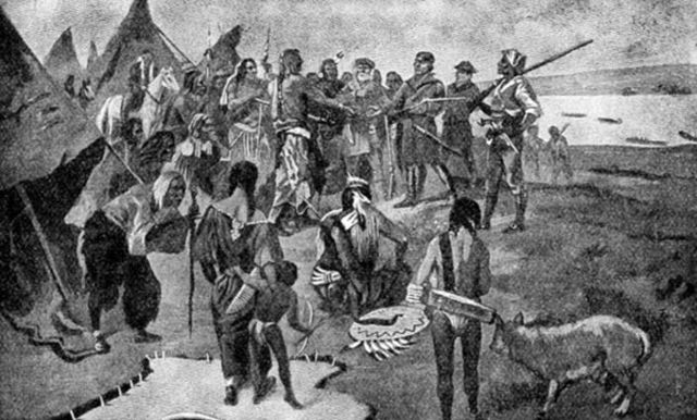 The Tenton Sioux Tribe meet the Corps of Discovery