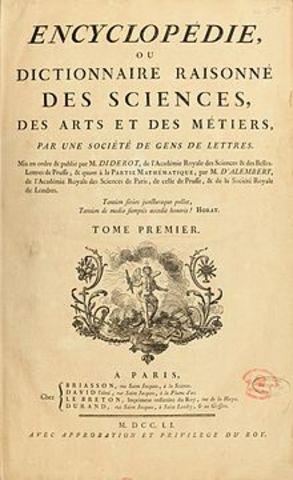 La Enciclopedia de Diderot y D'Alembert
