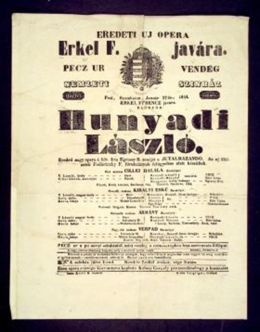 Hunyadi László című történelmi opera