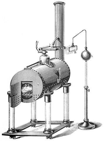 primeiro motor de barco