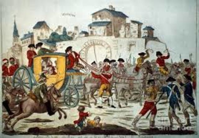 King Louis XVI's arrest