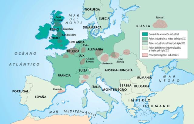Comença l'expansió de la revolució industrial al continent europeu