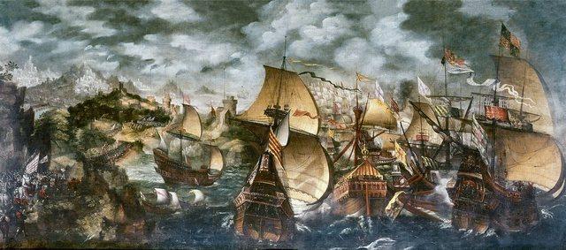 Armada invencible naufraga en el Canal de la Mancha
