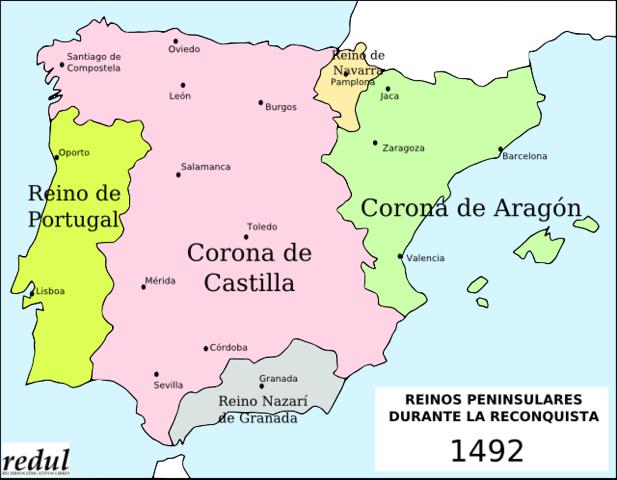 Los Reyes Católicos reúnen a las coronas de Aragón y Castilla