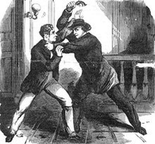 Lewis Powel tries to kill Fredrick Steward