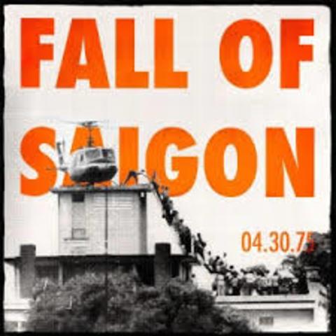 Vietnam- Saigon falls to the North Vietnamese