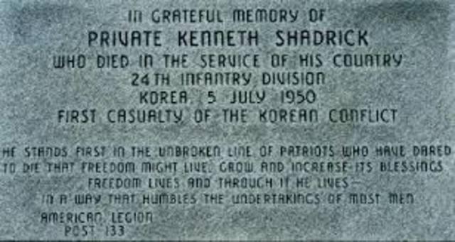 Korea- First US Troop killed