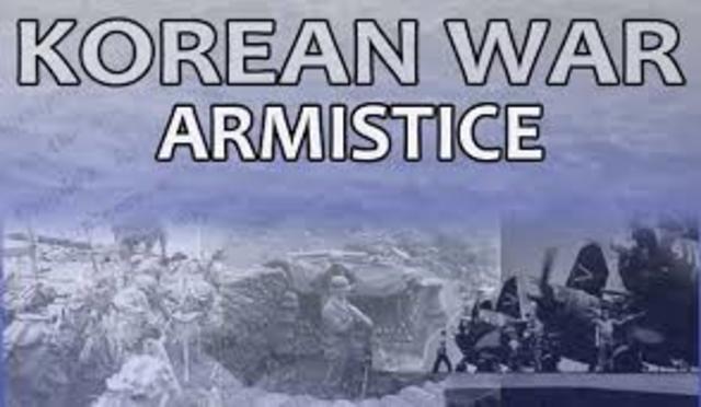 Korea- Armistice agreement signed
