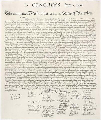 Declaracion de independencia de EEUU
