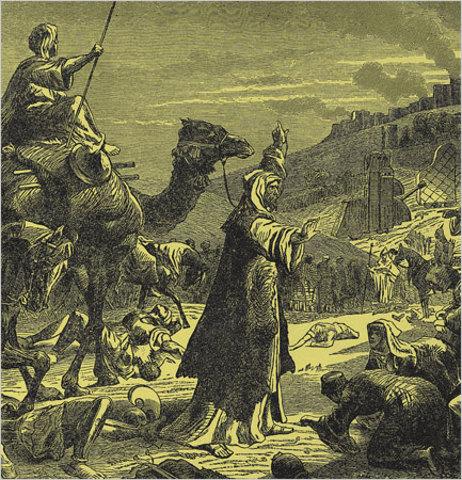 Muslim army conquers Pelusium