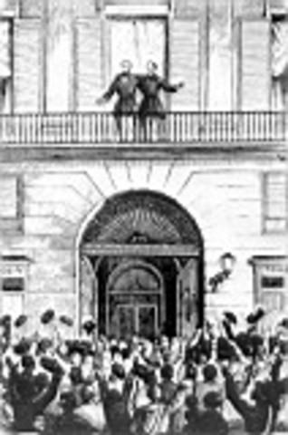 La vicalvarada: manifiesto de Manzanares. Caída del régimen moderado