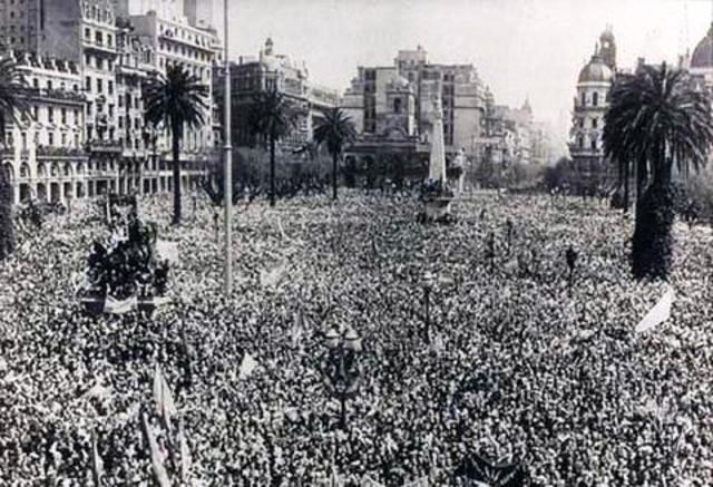 17 de Octubre en Plaza de Mayo