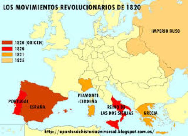 Revoluciones de 1820 y 1830
