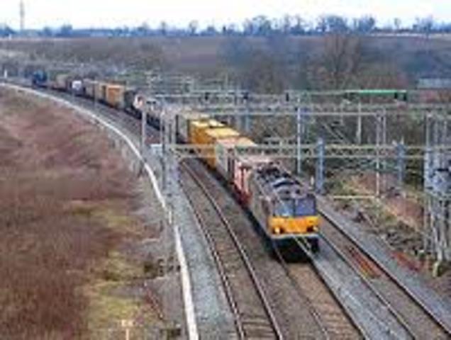 1ª linea de ferrocarril comercial