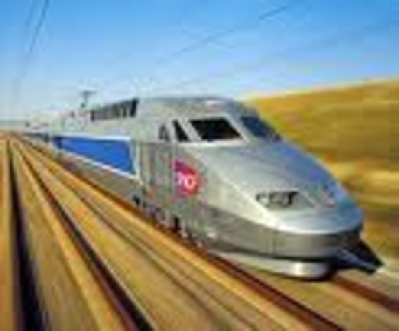 World's fastest train, the TGV in France.358