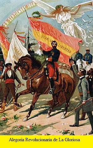 """Revolución """"La Gloriosa"""". Exilio de Isabel II"""