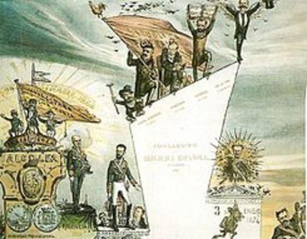 Revolución ''La Gloriosa''. Exilio de Isabel II