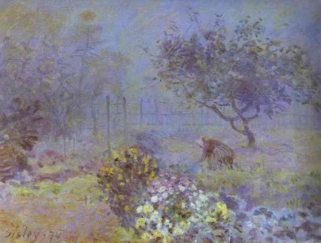 Impressionism (Fog, Voisins) (Alfred Sisley)