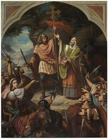 Batalla de Covadonga - Inicio Reconquista