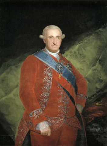 Inicio del reinado de Carlos IV