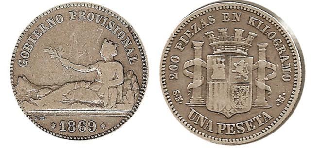 La peseta, unidad monetaria española.