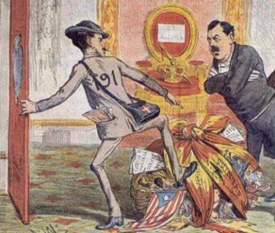 Abdicación de Amadeo I.