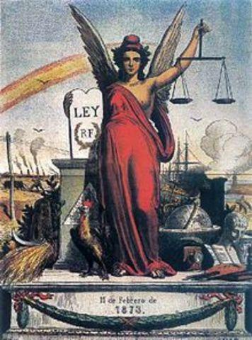 Proclamación de la I República.