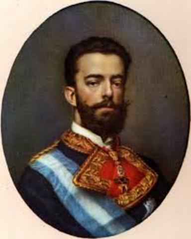 Amadeo de Saboya, rey de España.
