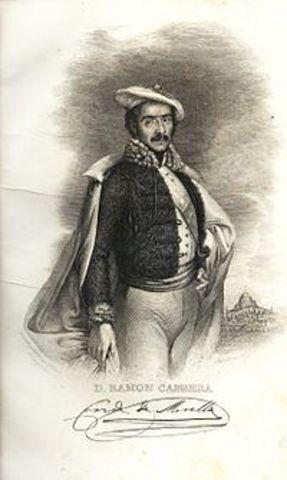 Fin de la guerra Carlista: derrota del General Cabrera.