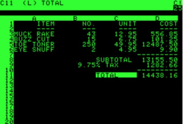 VISICAL, primera aplicacion creada por Dan Bricklin es considerado el «padre» de las hojas de cálculo electrónicas