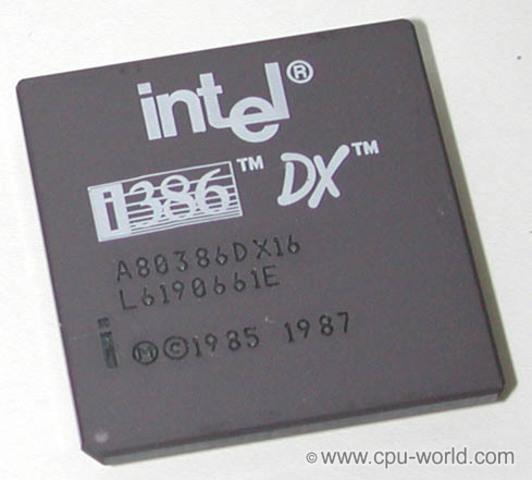 Процессор Intel 80386