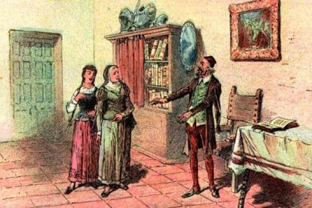 22 Julio 1605 Don Quijote con su sobrina y su ama
