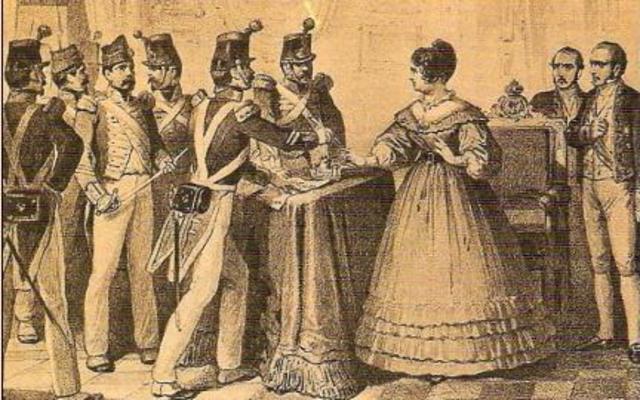 Pronunciamiento sargentos de La Granja.Restablecimiento Constitución 1812