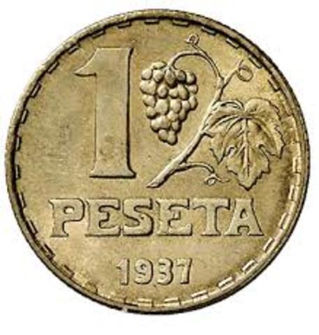 La peseta, unidad monetaria de España