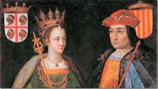 Matrimonio de Fernando II de Aragón  con Isabel de Castilla.