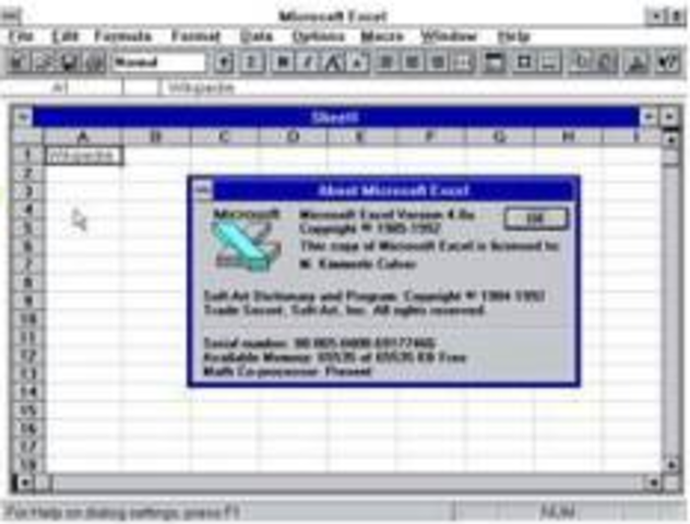 1992 - Excel 4.0