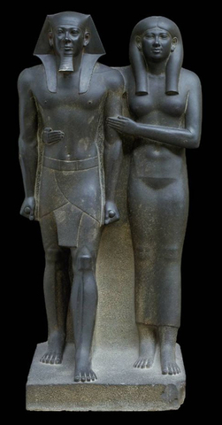 King Menkaure  and queen,