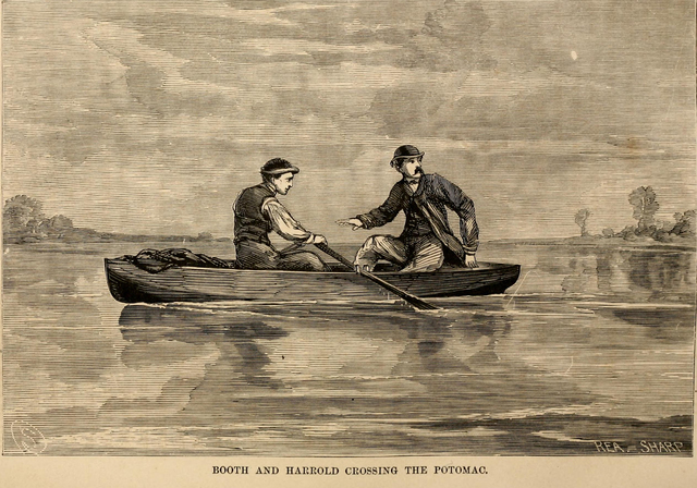 Booth and Herold cross the Potomac River