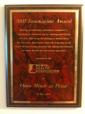 Open Minds wins its 1st award